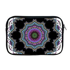 Fractal Lace Apple Macbook Pro 17  Zipper Case by Simbadda