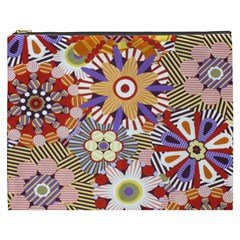 Flower Floral Sunflower Rainbow Frame Cosmetic Bag (xxxl)