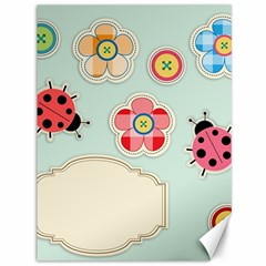 Buttons & Ladybugs Cute Canvas 36  X 48   by Simbadda