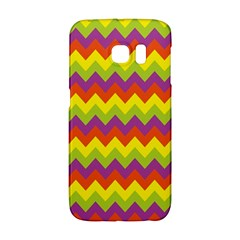 Colorful Zigzag Stripes Background Galaxy S6 Edge by Simbadda
