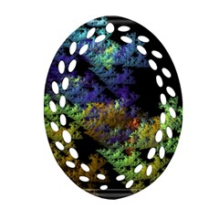 Fractal Forest Ornament (oval Filigree) by Simbadda