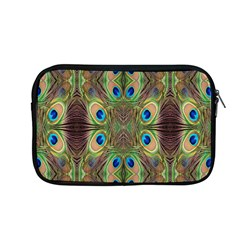 Beautiful Peacock Feathers Seamless Abstract Wallpaper Background Apple Macbook Pro 13  Zipper Case by Simbadda