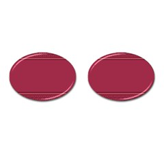 Heart Pattern Background In Dark Pink Cufflinks (Oval) by Simbadda