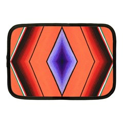 Diamond Shape Lines & Pattern Netbook Case (medium)  by Simbadda