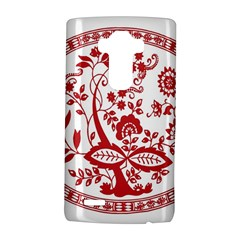 Red Vintage Floral Flowers Decorative Pattern Lg G4 Hardshell Case by Simbadda