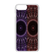 Digital Colored Ornament Computer Graphic Apple iPhone 7 Plus White Seamless Case by Simbadda