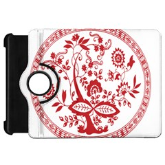 Red Vintage Floral Flowers Decorative Pattern Kindle Fire Hd 7  by Simbadda