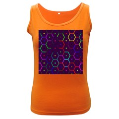Color Bee Hive Pattern Women s Dark Tank Top by Amaryn4rt