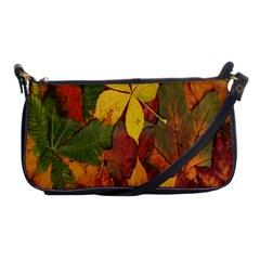 Colorful Autumn Leaves Leaf Background Shoulder Clutch Bags