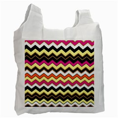 Colorful Chevron Pattern Stripes Recycle Bag (two Side)  by Amaryn4rt
