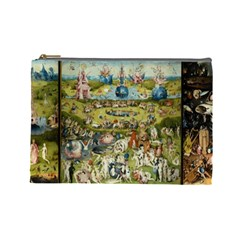 Hieronymus Bosch Garden Of Earthly Delights Cosmetic Bag (large)  by MasterpiecesOfArt