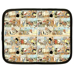 Old comic strip Netbook Case (XXL)  by Valentinaart