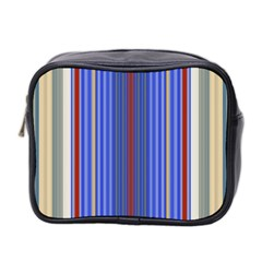 Colorful Stripes Background Mini Toiletries Bag 2 Side by Amaryn4rt