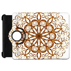 Golden Filigree Flake On White Kindle Fire Hd 7  by Amaryn4rt