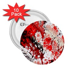 Red Fractal Art 2 25  Buttons (10 Pack)  by Amaryn4rt