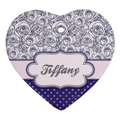 Pattern Purple 2 Heart Ornament (two Sides) by makeunique