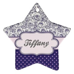 Pattern Purple 2 Star Ornament (two Sides) by makeunique