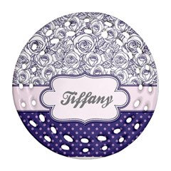 Pattern Purple 2 Round Filigree Ornament (two Sides) by makeunique