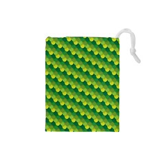 Dragon Scale Scales Pattern Drawstring Pouches (small)  by Amaryn4rt