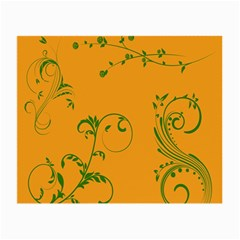 Nature Leaf Green Orange Small Glasses Cloth by Alisyart