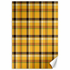Plaid Yellow Line Canvas 12  X 18   by Alisyart