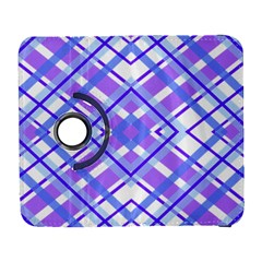 Geometric Plaid Pale Purple Blue Galaxy S3 (flip/folio) by Amaryn4rt