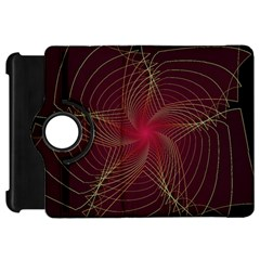 Fractal Red Star Isolated On Black Background Kindle Fire Hd 7  by Amaryn4rt