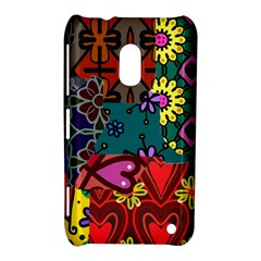 Digitally Created Abstract Patchwork Collage Pattern Nokia Lumia 620 by Amaryn4rt