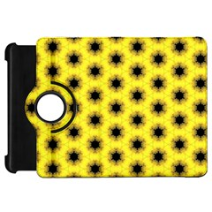 Yellow Fractal In Kaleidoscope Kindle Fire Hd 7  by Amaryn4rt