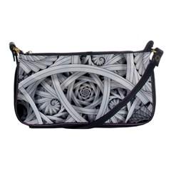 Fractal Wallpaper Black N White Chaos Shoulder Clutch Bags
