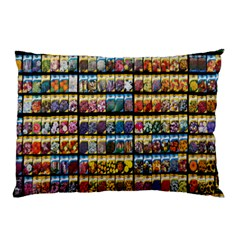 Flower Seeds For Sale At Garden Center Pattern Pillow Case (two Sides)