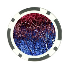 Autumn Fractal Forest Background Poker Chip Card Guard (10 Pack)