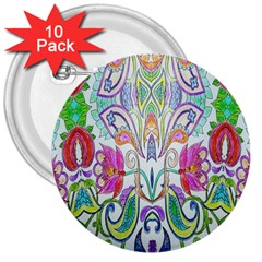 Wallpaper Created From Coloring Book 3  Buttons (10 Pack)  by Amaryn4rt