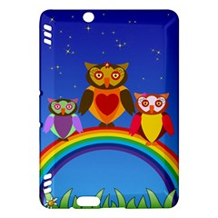 Owls Rainbow Animals Birds Nature Kindle Fire Hdx Hardshell Case by Amaryn4rt