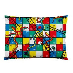 Snakes And Ladders Pillow Case (two Sides)
