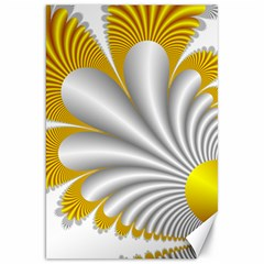Fractal Gold Palm Tree  Canvas 20  X 30