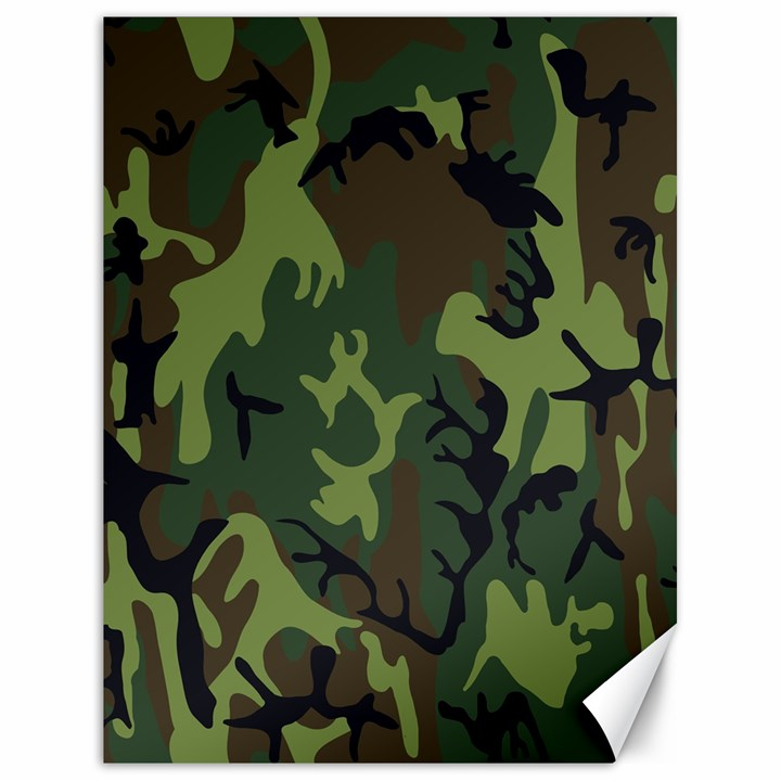 Military Camouflage Pattern Canvas 18  x 24