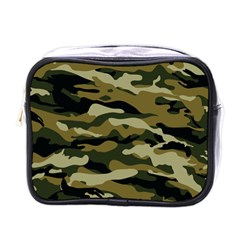 Military Vector Pattern Texture Mini Toiletries Bags by Simbadda