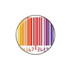 Colorful Gradient Barcode Hat Clip Ball Marker (10 pack) by Simbadda