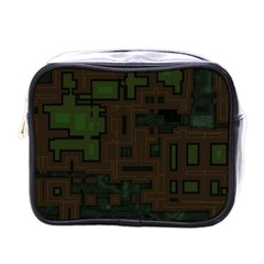 Circuit Board A Completely Seamless Background Design Mini Toiletries Bags by Simbadda