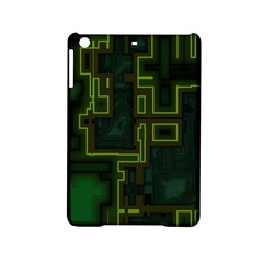 A Completely Seamless Background Design Circuit Board Ipad Mini 2 Hardshell Cases by Simbadda