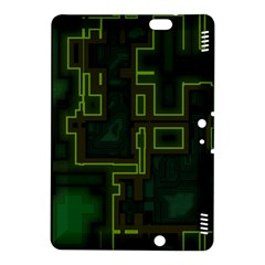 A Completely Seamless Background Design Circuit Board Kindle Fire HDX 8.9  Hardshell Case by Simbadda