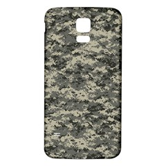 Us Army Digital Camouflage Pattern Samsung Galaxy S5 Back Case (White) by Simbadda