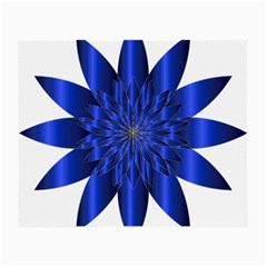 Chromatic Flower Blue Star Small Glasses Cloth (2 Side) by Alisyart
