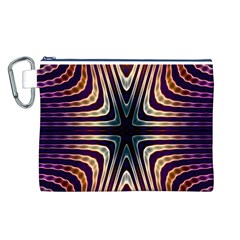 Vibrant Pattern Colorful Seamless Pattern Canvas Cosmetic Bag (l) by Simbadda