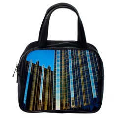 Two Abstract Architectural Patterns Classic Handbags (One Side) by Simbadda
