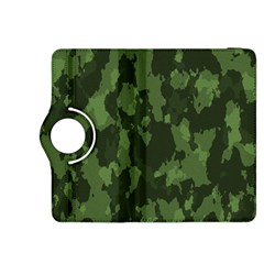 Camouflage Green Army Texture Kindle Fire HDX 8.9  Flip 360 Case by Simbadda
