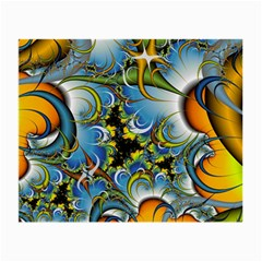 Fractal Background With Abstract Streak Shape Small Glasses Cloth by Simbadda