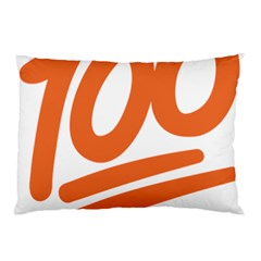 Number 100 Orange Pillow Case (two Sides)