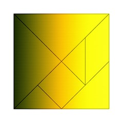 Yellow Gradient Background Acrylic Tangram Puzzle (6  X 6 ) by Simbadda